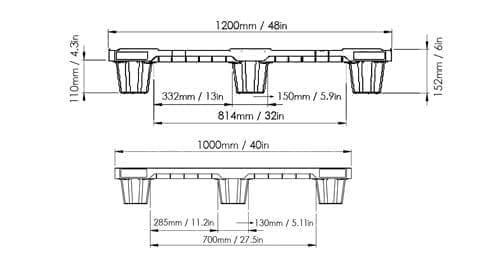 EXP 104 PLASTIC PALLET 1