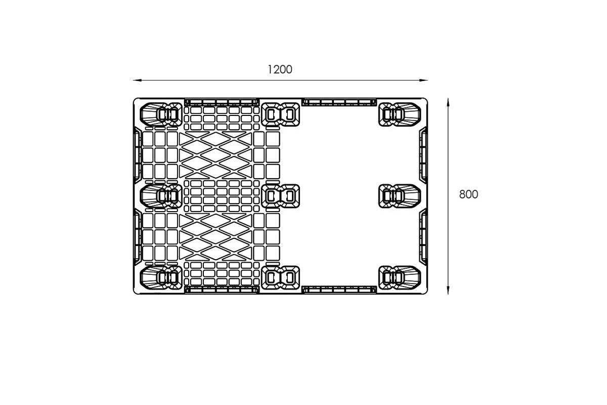 EXP 114 EURO PLASTIC PALLET 2
