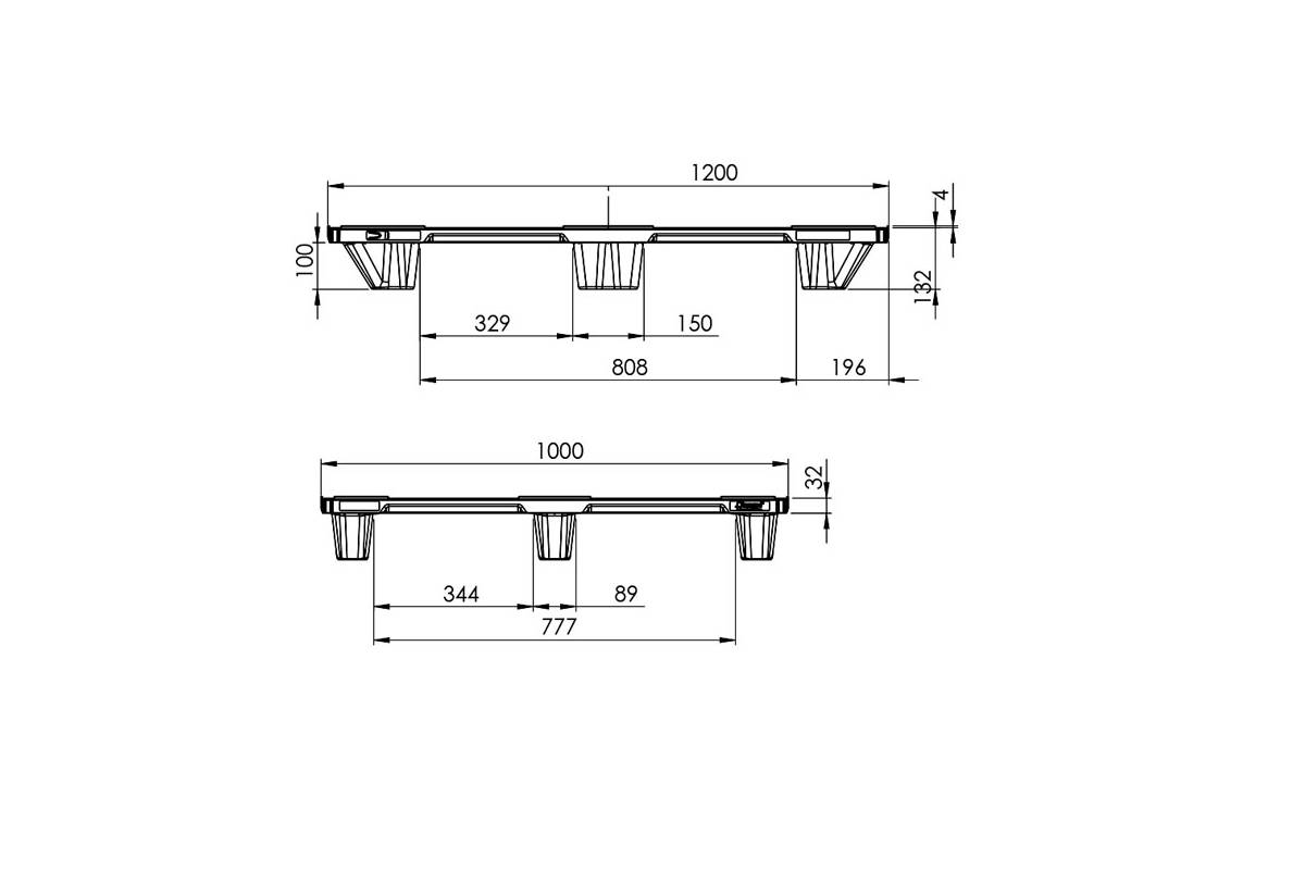 EXP 120 Semi PLASTIC PALLET 1