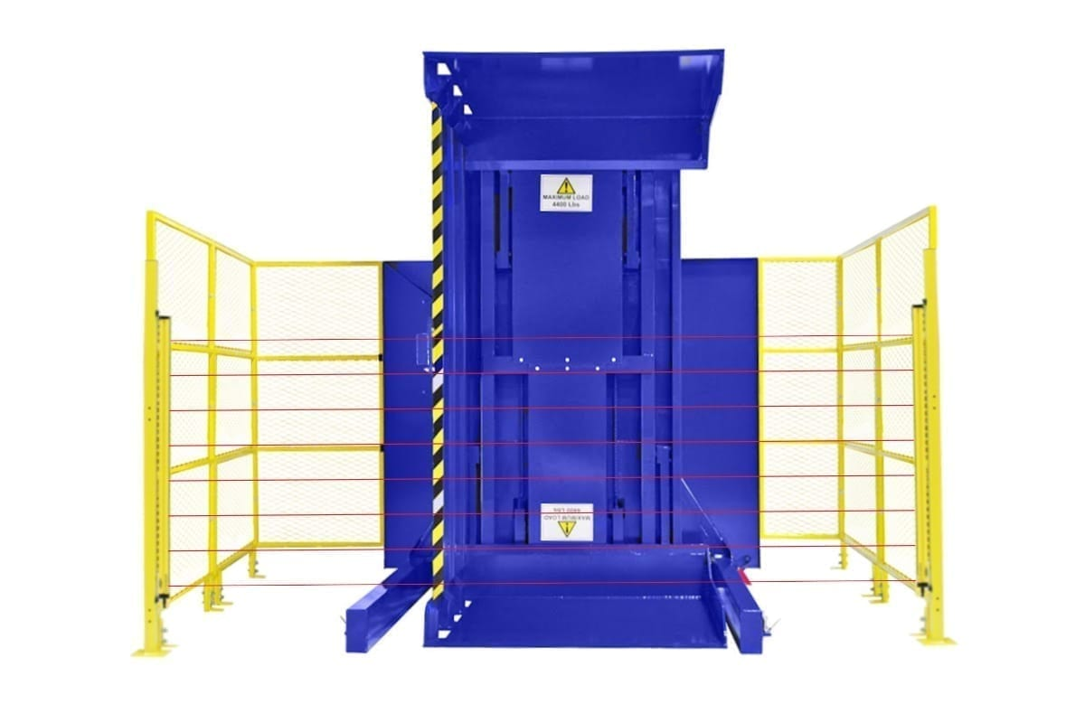 Dual Clamp Fsdc Bars Ground Loaded Push Button Conrol With High Style Guarding - Light Curtain Safety Pacakge Pallet Inverter