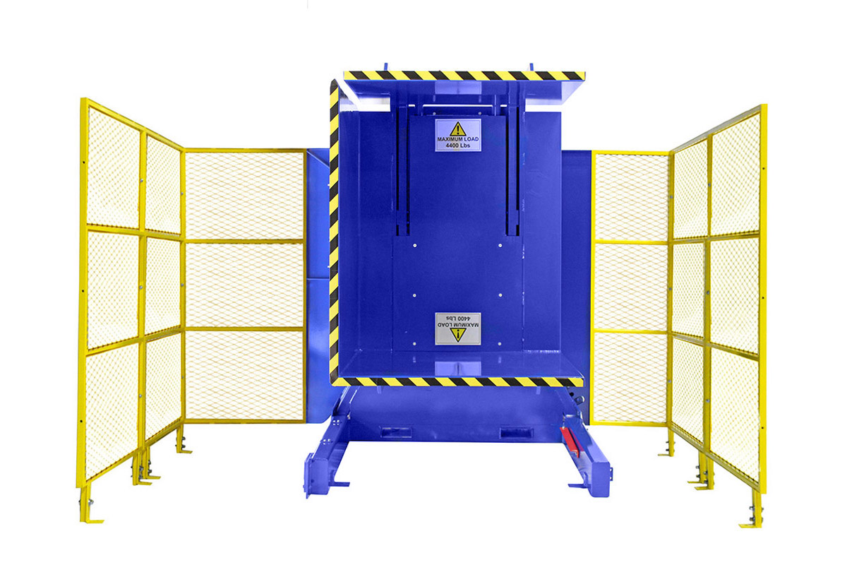 6. Single Clamp Fs 1600 Push Button Control With High Style Guarding Pallet Inverter