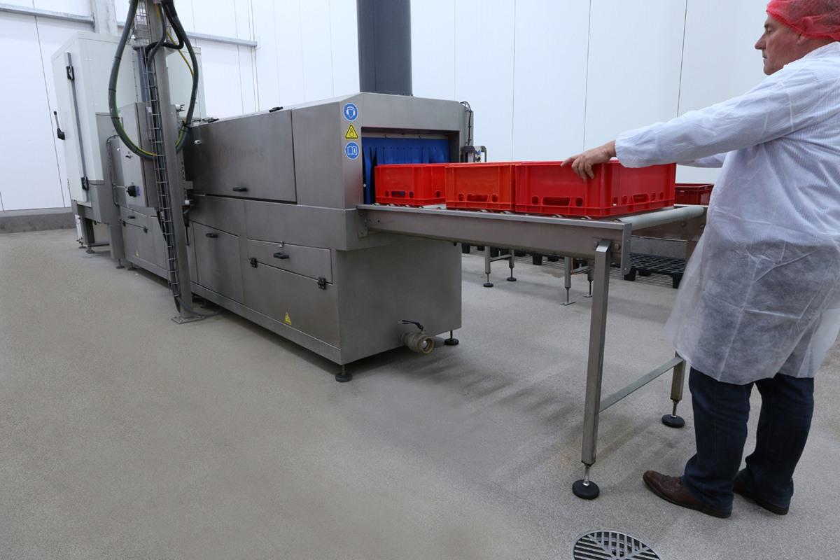 Feeding Crates In Machine