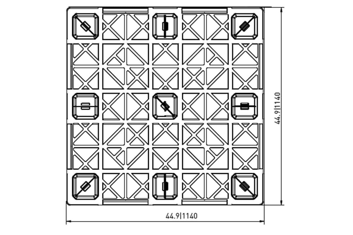 EXP 406 PLASTIC PALLET 1
