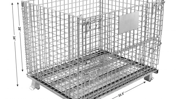 Medium Wire Container with Dims