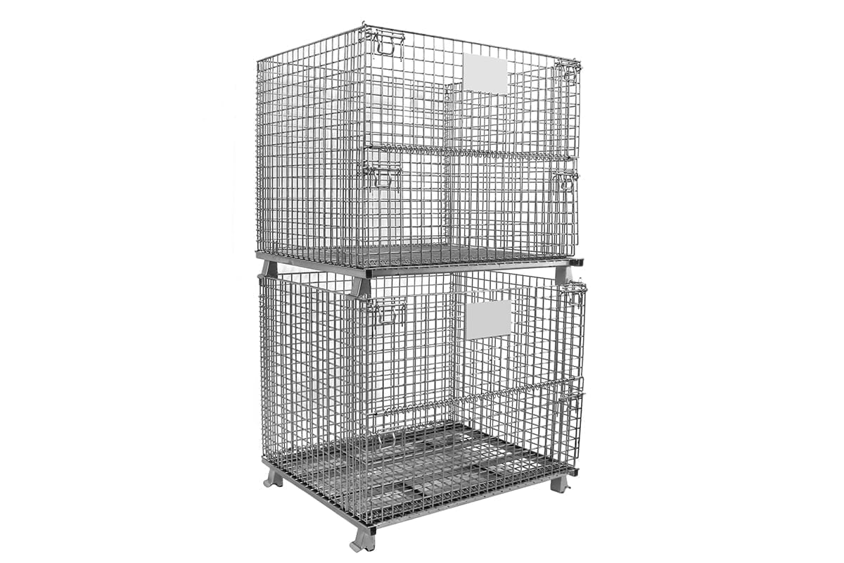 XL Stacked Wire Baskets