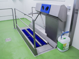 Dzw-Hdt Hygiene Station≪Br≫(Sole Cleaning &Amp; Hand Disinfection) 3