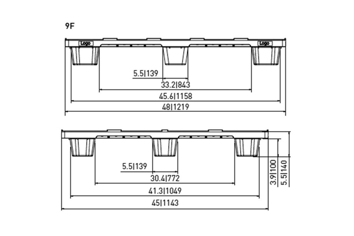 EXP 530 PLASTIC PALLET 5