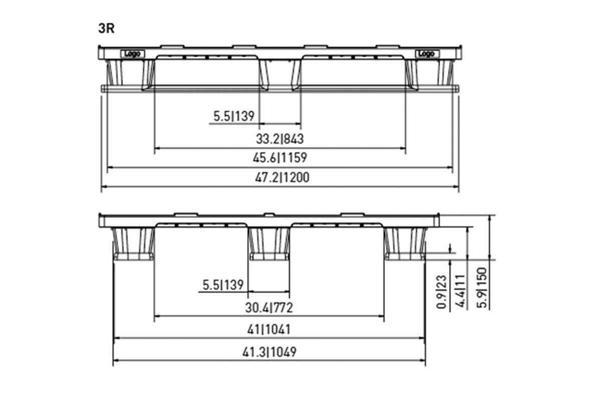 EXP 530 PLASTIC PALLET 4