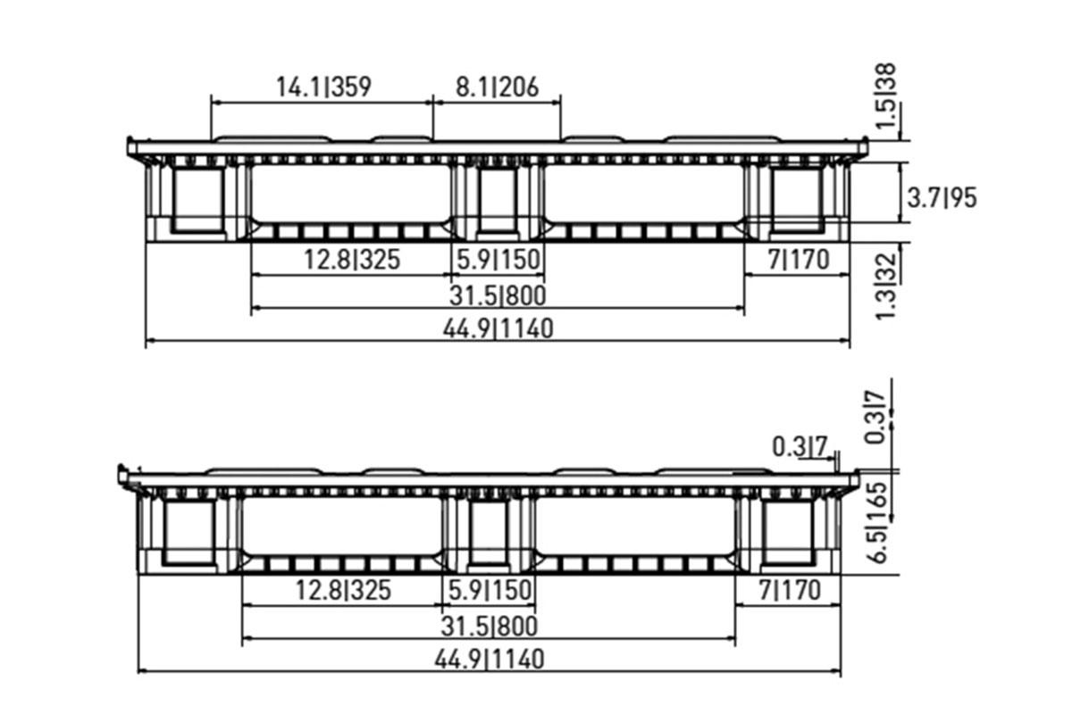 RCK 756 PLASTIC PALLET 6