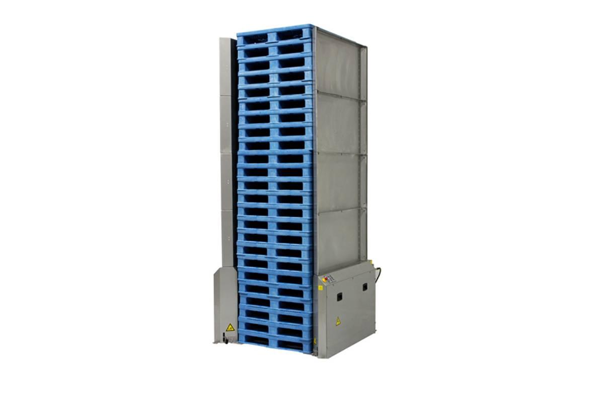 Stainless Pallet Dispenser Wood Block Pallets 1