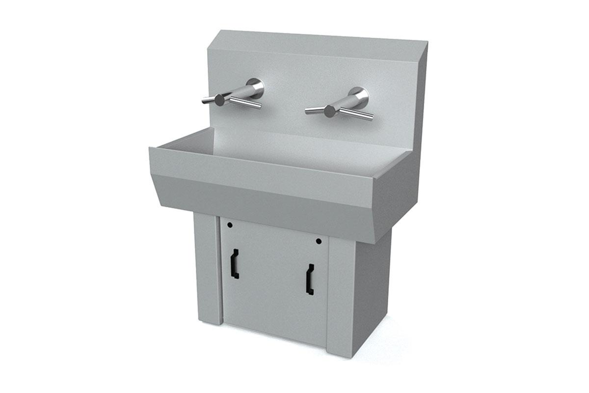 Wash Basins W/ Hand Dryers 1