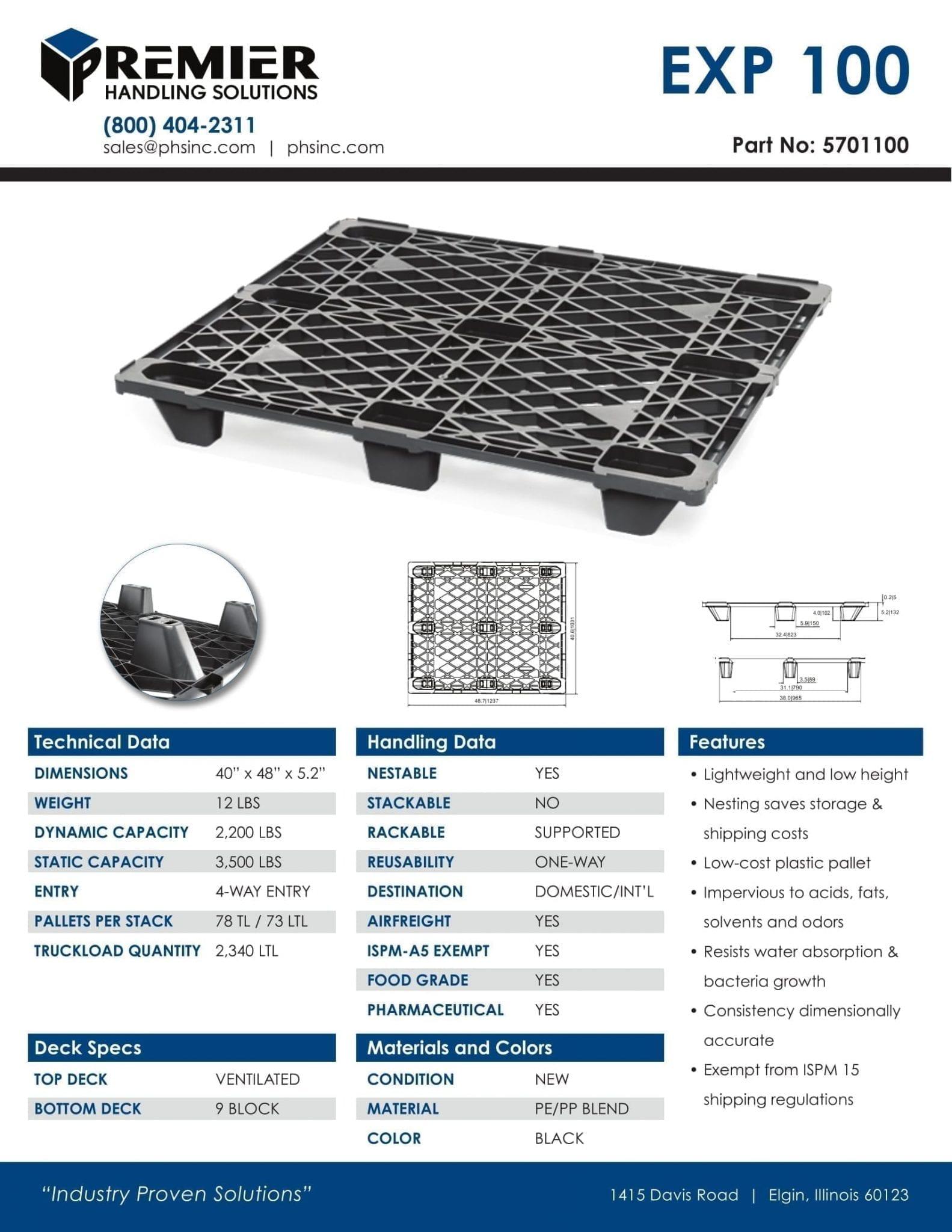 EXP 100 PLASTIC PALLET 2