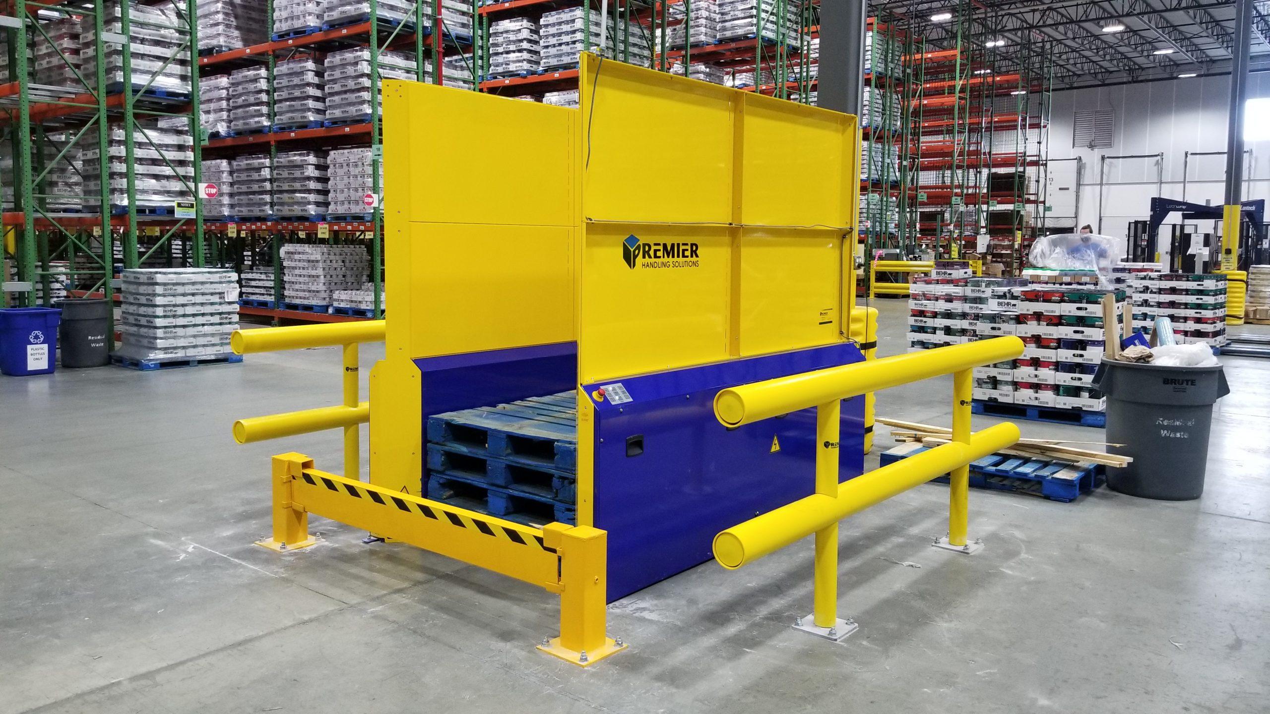 Double Deep Pallet Dispenser Wood Block Pallets 5