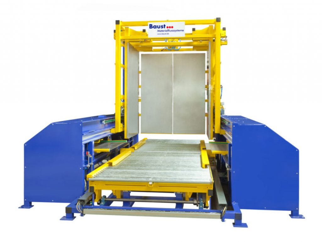 Pushing Method Pallet Changer For Conveyor System