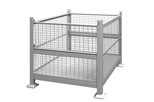Rigid Wire Container Dual Drop Gate